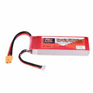 ZOP-Power-11-1V-65C-3300mAh-3S-Lipo-Batterie-XT60-Stecker-fuer-RC-Auto-Drohne
