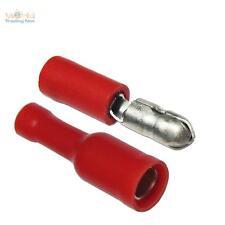 10 Paar Rundsteckverbinder für Kabel 0,5-1,5mm² ROT