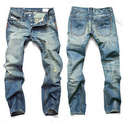 CHEAP~Casual Cool Mens Baggy Denim Jeans Hip-Hop Rap Skateboard Pants Trousers