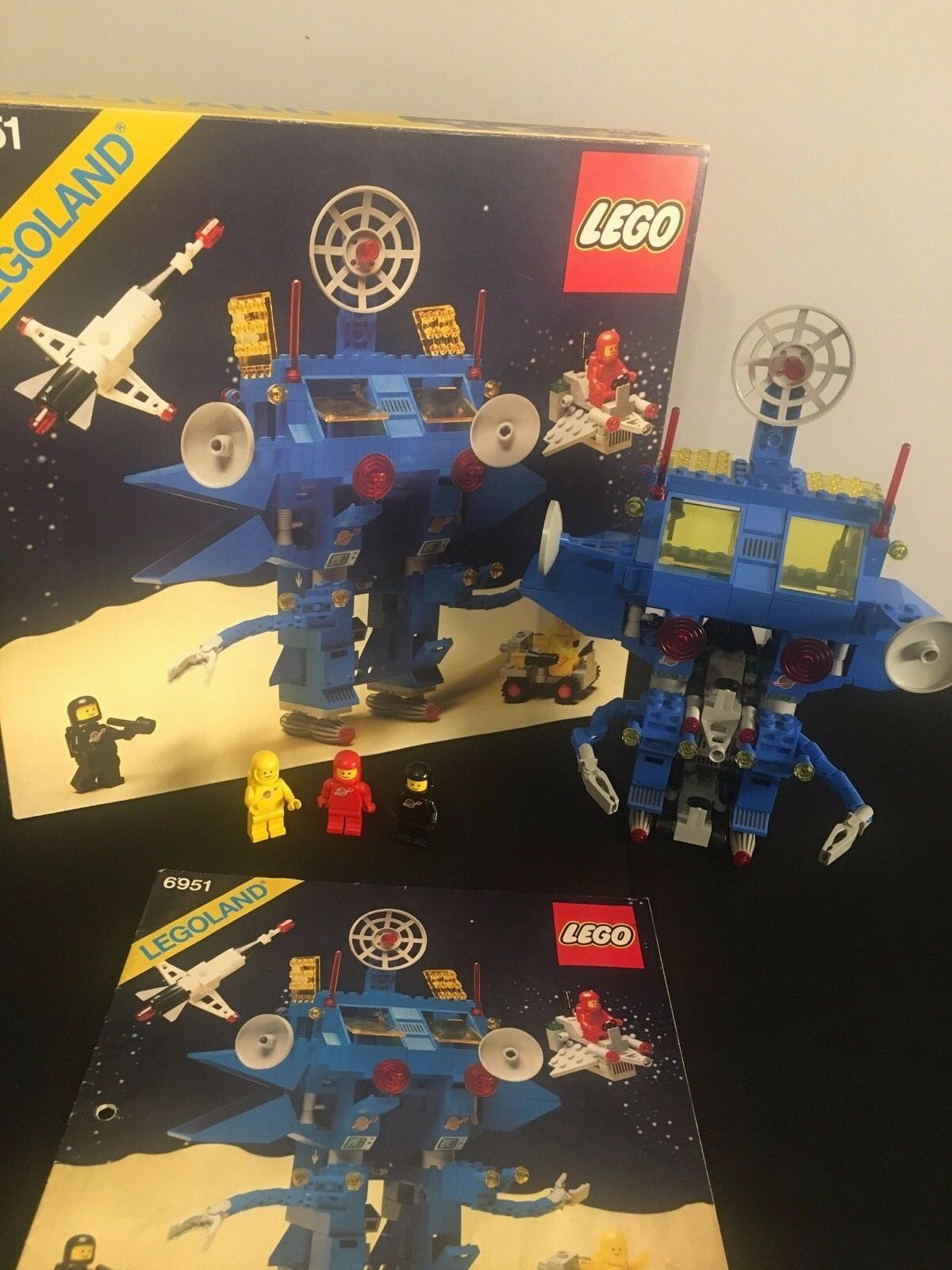 Lego 6951 Classic Space Robot Robot Robot Command Center Komplett