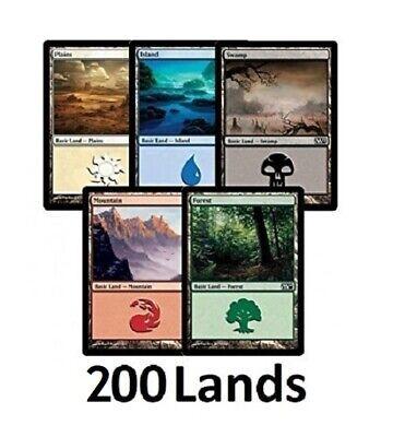 Magic the Gathering 100 Basic Land 20 of Each Colour MTG