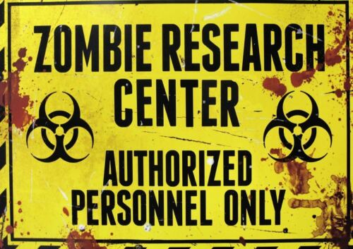 ZOMBIE RESEARCH FACILITY SIGN A3 ART PRINT POSTER GZ5640