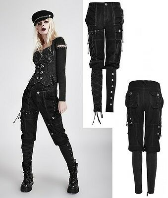 Punk Rave Hose Military Pants Gothic Skinny Jeans Capri Baggy Steampunk WGT K256