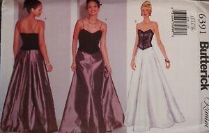 Sur Soirée Patron Détails Femmes Doublé Non Butterick De 6391 Découpé Vintage Robe Couture 80OPwXkn