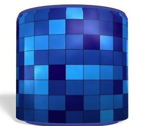Blue pixel small light ceiling lamp shade 8 nursery kids room image is loading blue pixel small light ceiling lamp shade 8 aloadofball Image collections
