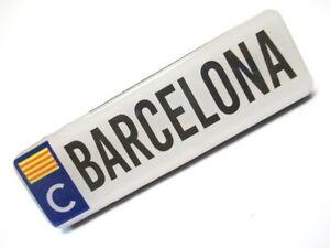 Barcelona-Ortsschild-10-cm-Foto-Magnet-Epoxid-Spanien-Souvenir
