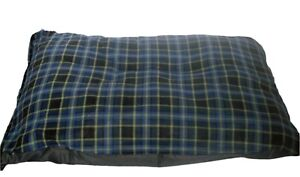 Blue Check Fleece Deluxe Waterproof Dog Bed, Lits pour chiens, Lits pour animaux, Lits pour chiens, lits pour chiens