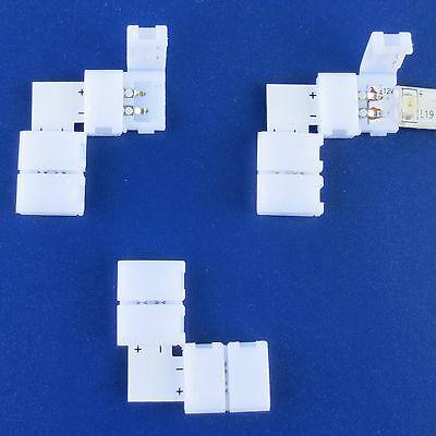 LED Schnell Verbinder ohne Löten f. Streifen Bänder 3528 5050 8mm 10mm Formstück