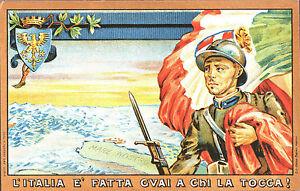 CARTOLINA-ILLUSTRATA-D-039-EPOCA-REGNO-D-039-ITALIA-L-039-Italia-e-fatta-Riprod