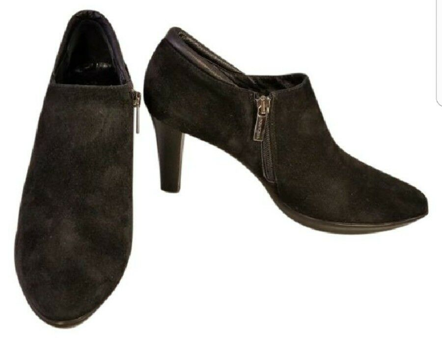 AQUATALIA MARVIN K WOMAN ANKLE BOOTS SUEDE BLACK SIDE ZIPPER USA SIZE 9.5 ITALY