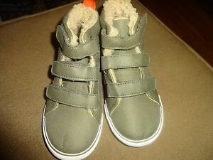 Gap-Baby-Toddler-Boys-Cozy-Sherpa-Lined-Hi-Top-Olive-Green-Shoes-Boots-Sneakers