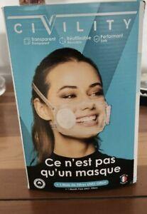 Masque De Protection Transparent CIVILITY Made In France Neuf