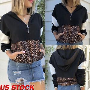 Long-Sleeve-Womens-VNeck-Pullover-Casual-Loose-Sweatshirt-Hooded-Pockets-Outwear