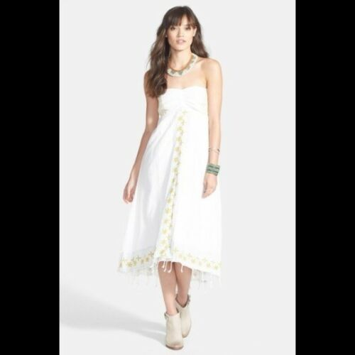 Star of India Embroidered Strapless High/Low Dress