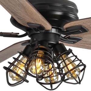 60 Quot Large Unique Ceiling Fan Remote Steampunk Cage Branch