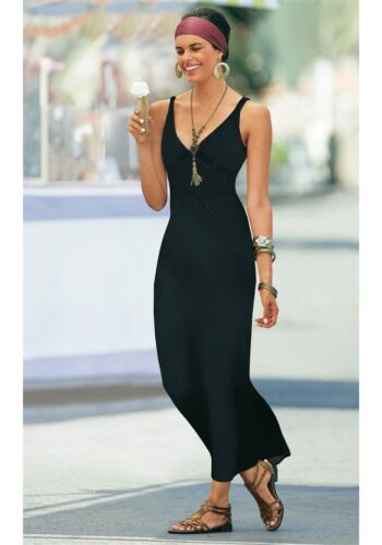 Kp 49,99 € soldes/%/%/% NEUF!! Jersey-robe vivien caron taille 34 Noir