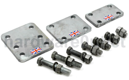 """GALVANISED Steel 3/"""" Tow Bar DROP PLATE 130 x 100 x 10.0mm Trailer Made in UK"""