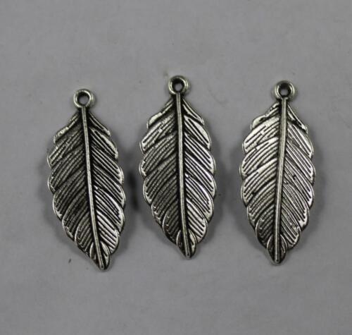 50//100pcs Retro style leaves alloy charms pendants 31x13mm