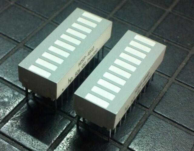 HDSP-4840  10-Element Bar Graph Array DIP LED  Yellow -2pcs