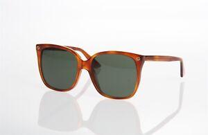 16c67bc370449 A imagem está carregando Gucci -GG0022S-002-Havana-Verde-Tamanho-Grande-Quadrado-
