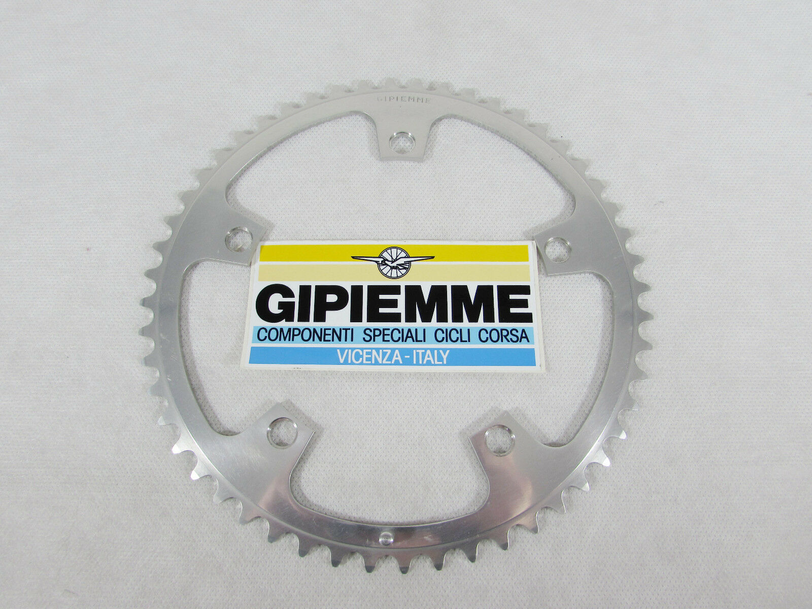 Vintage NOS GIPIEMME  SPECIAL 52t CHAIN RING, 144 BCD, fits Campagnolo  free delivery and returns