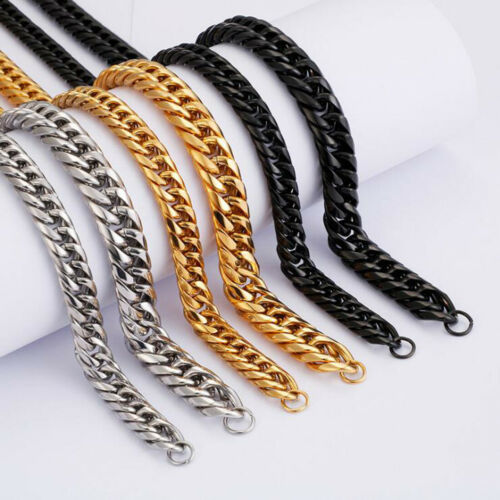 Details about  /9//11mm New Charm Cuban Necklace Chain Pure Stainless Steel Mens Fashion Jewelry