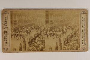 UK-Londra-Diamond-Jubilee-1897-Foto-Stereo-Albumina-Vintage