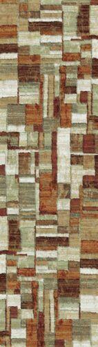 Geometric High Quality Easycare Modern Contemporary Rust Durable Area Rug Runner
