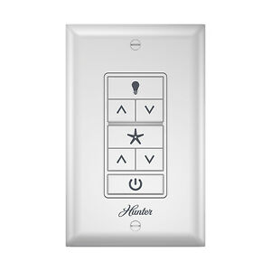 hunter ceiling fan & light wall control with wireless ... ceiling fan pull chain switch wiring diagram ceiling fan remote wall switch wiring plan