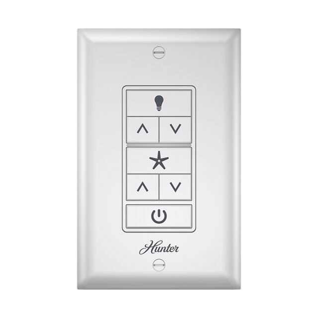 Hunter Ceiling Fan Light Wall Control With Wireless Recceiver 2 Wire 99375