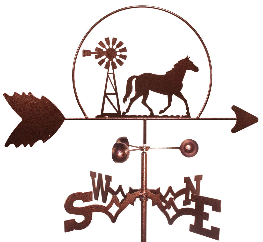 Horse & Windmill Weathervane (Roof Mounting Included)