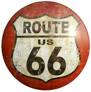 Men-039-s-Gildan-T-Shirt-Route-66-Sign-Distressed-Ideal-Birthday-Gift-or-Present