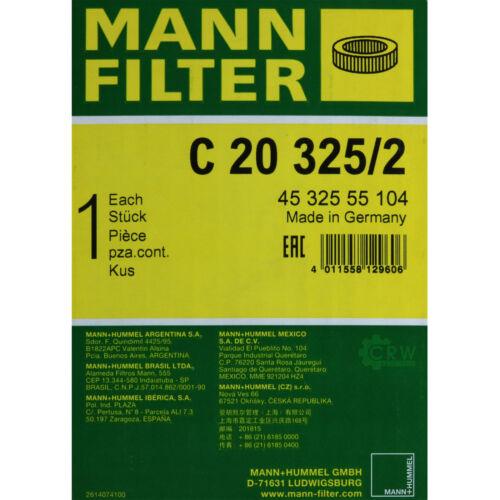 Original Homme-Filtre Filtre à air C 20 325//2 Air Filtre