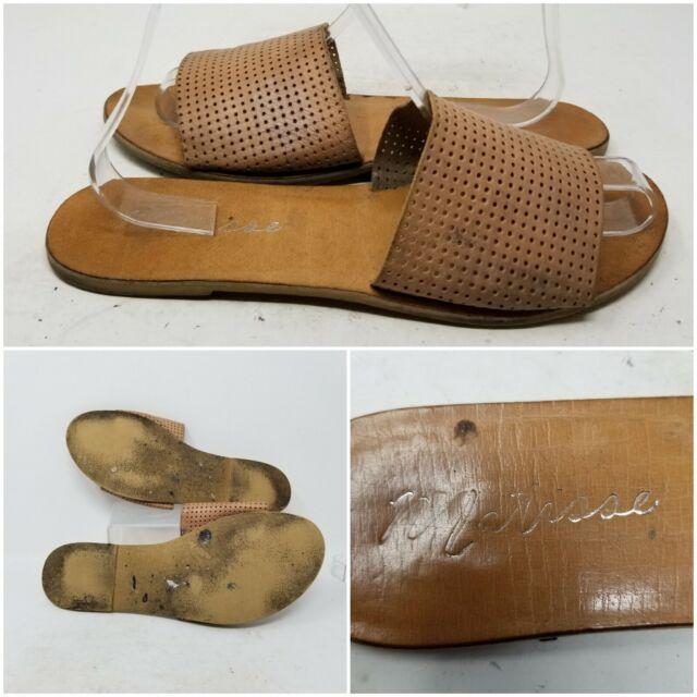 Matisse Brown Slip On Low Top Open Toe Sandal Slides Women's Size 9