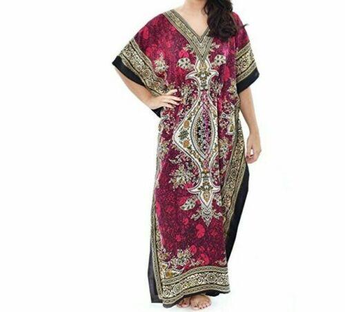 Womens New Summer Floral Print Long Kaftan Dress African Style Tarban  FREE SHIP