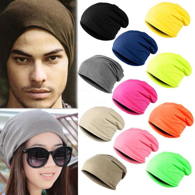 Unisex Women Men Knit Winter Warm Ski Crochet Slouch Hat Cap Beanie One Size
