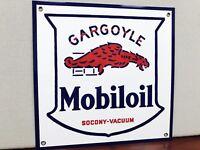 Mobiloil Gargoyle rare Mobil Gas pegasus oil gasoline vintage advertising sign