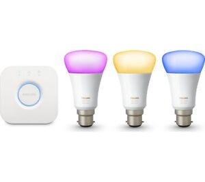 Philips-Hue-Richer-Colours-B22-BC-Bayonet-White-Colour-Ambience-Starter-Kit