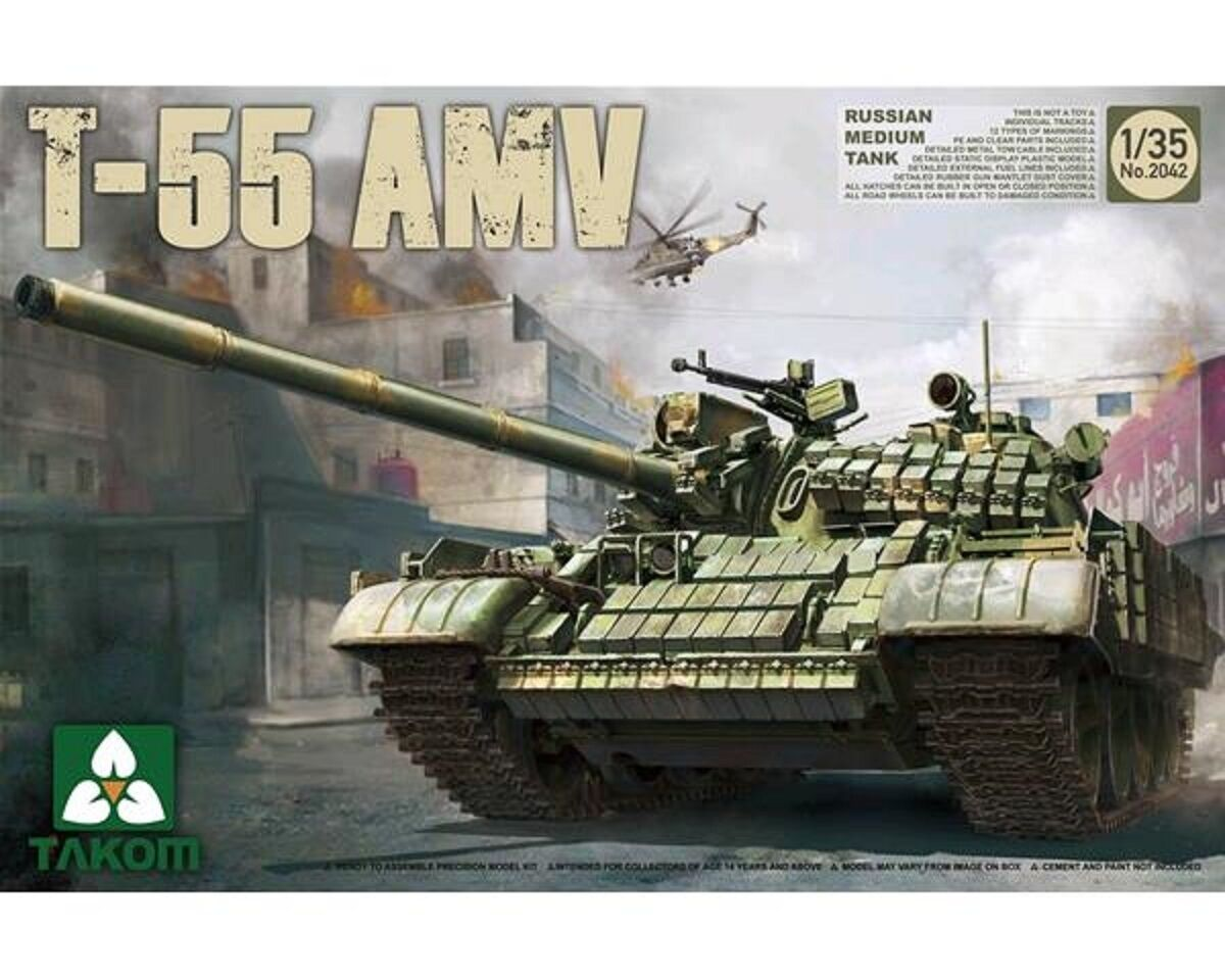 TAKOM RUSSIAN MEDIUM TANK T-55 AMV 1 35 COD.2042