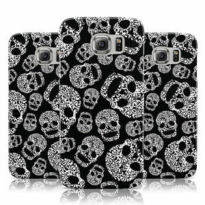 SWIRL-PATTERN-SUGARSKULLS-PRINT-BLACK-CASE-FOR-SAMSUNG-GALAXY-MOBILE-PHONES