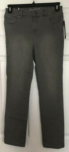 Gloria Vanderbilt Bridget Glacial Grey Wash Slim Jeans Size 6 Avg or Short NWT