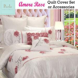 Linge De Maison Ebay.Details About Amore Rose White Applique Quilt Cover Set Or Accessories Perle Linge De Maison