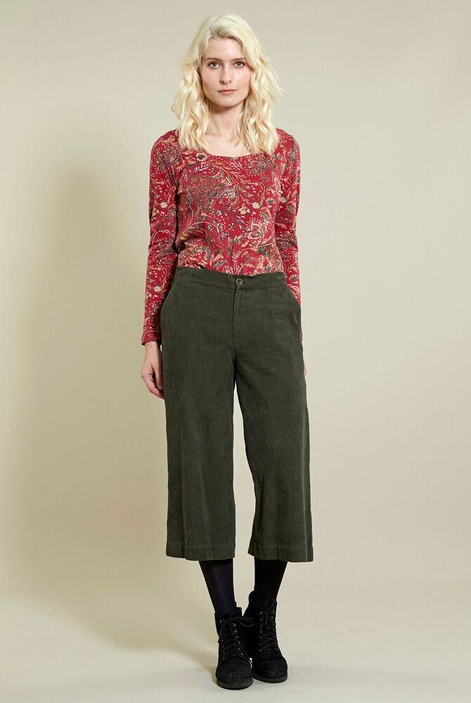 50% De Réduction Promotion Nomades Jambe Large Crop Pantalon Needlecord Taille 18, Commerce équitable-cd1004