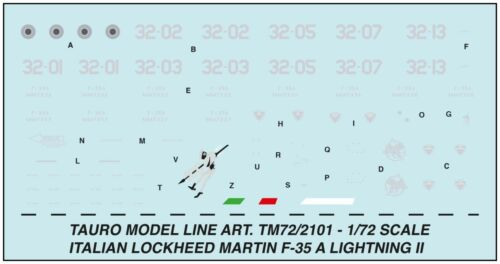 TAURO MODEL TM72//2101 LOCKHEED MARTIN F-35 LIGHTNING II 32° STORMO SCALA 1:72