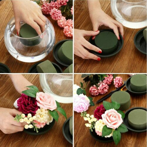 12Pcs//Set DIY Flower Arrangement Kit Green Round Wet Floral Foam Wedding Aisl