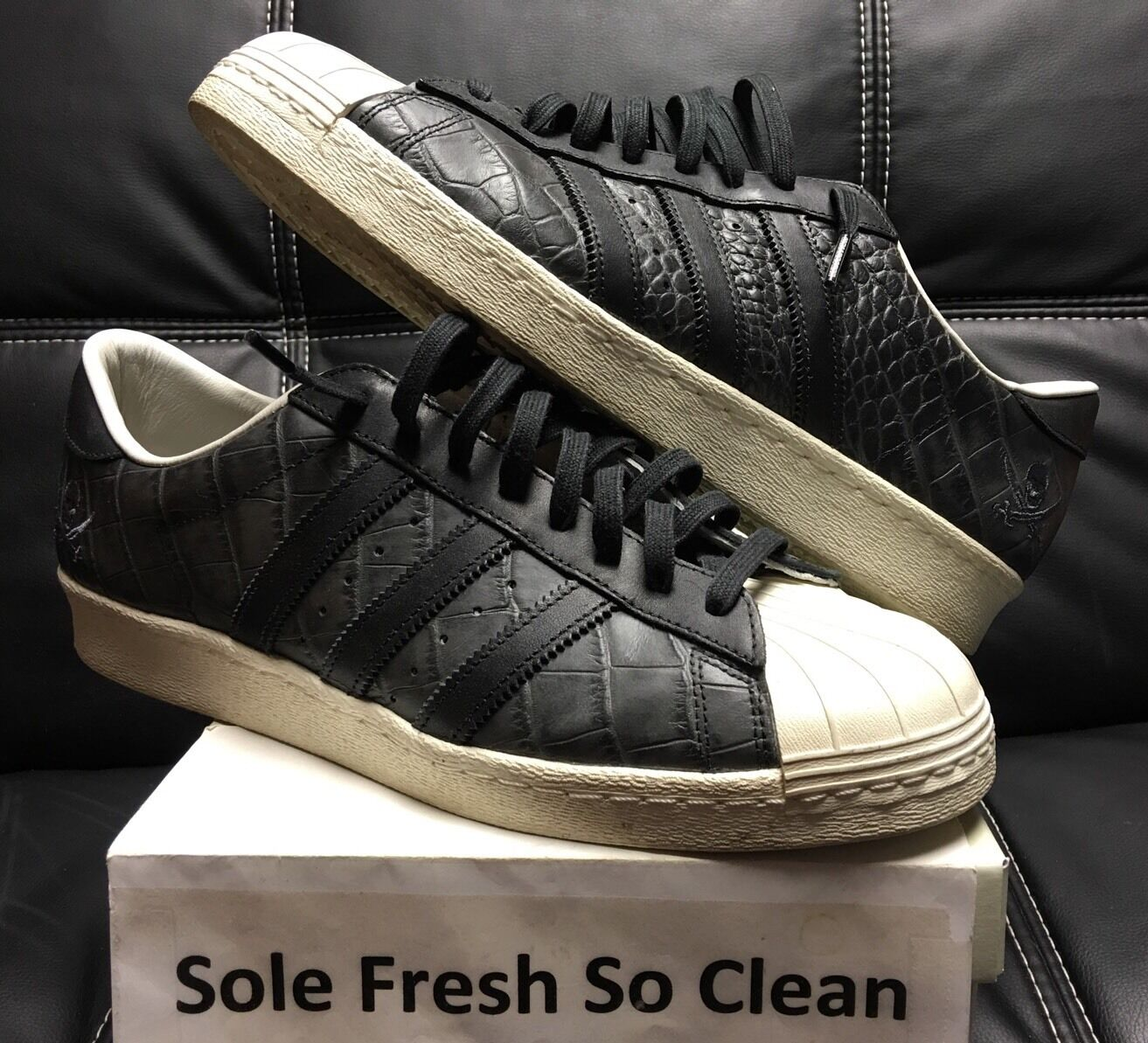 NBHD x Adidas Consortium Superstar 80v size 12 Pre-owned Excellent Condition