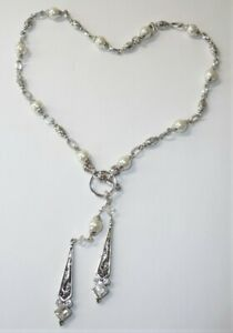 Brighton-Necklace-Pearls-and-Clear-Crystal-Silver-Tone