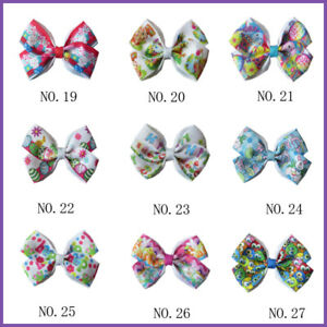 "50 BLESSING Good Girl 2.75/"" Hair Clip Spangle Christmas Tree Flash Wholesale"