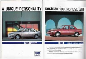 1994-FORD-ESCORT-amp-ORION-Thai-market-4-page-Brochure-folder-in-Thai