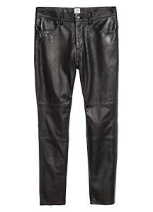 df5a42db38d53  350 Men s H M STUDIO AW17 Leather Pants 29 32 33 Fit Trousers Biker ...